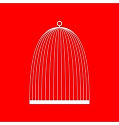 Bird cage sign vector image
