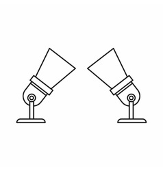 Two spotlights icon in outline style vector