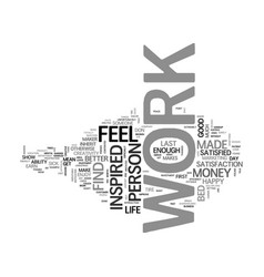 Are you inspired in your work text word cloud vector