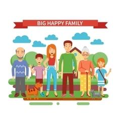 Big Family vector image