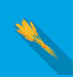 Bundle of wheat icon in flate style isolated on vector