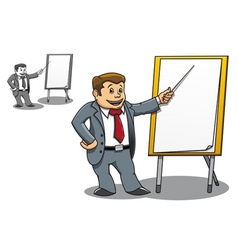 businessman presentation vector image