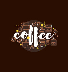 cafe banner template design with lettering for vector image vector image