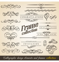 Calligraphic Design Elements and Frames vector image vector image