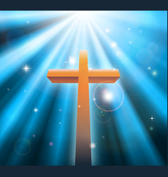 christian religion cross vector image