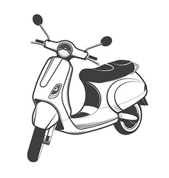 Classic scooter vector image vector image