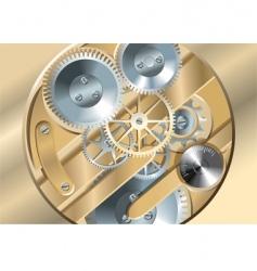 clockworks gears vector image