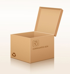 Corrugated box recycle vector