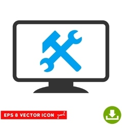 Desktop settings eps icon vector