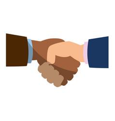 diversity handshake symbol vector image