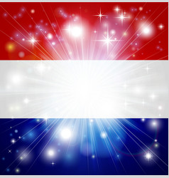 dutch flag background vector image vector image