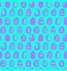 easter egg trendy seamless pattern vector image vector image