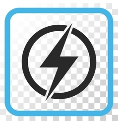 Electricity icon in a frame vector