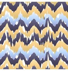 Ethnic seamless pattern - beige blue ikat pattern vector