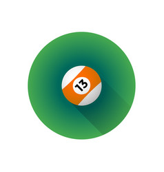 Flat color billiard ball vector