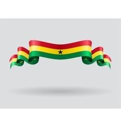 Ghana wavy flag vector