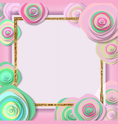 greeting card with flowers background vector image vector image