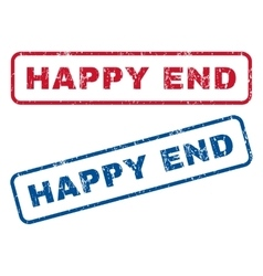 Happy end rubber stamps vector