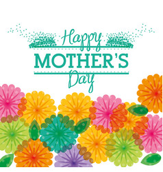 happy mothers day greeting flower transparent vector image