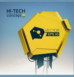 light modern futuristic background vector image