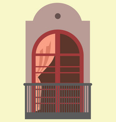 Nice tall broad windows in european style vector