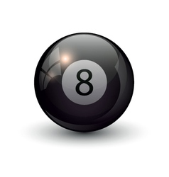 pool billiards eight ball vector image