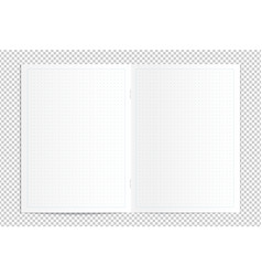 Realistic blank dotted copy book spread vector