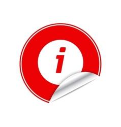 Red sticker info vector