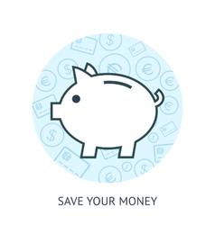Save money concept vector