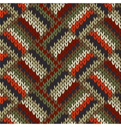 Seamless Knitted Pattern vector image vector image