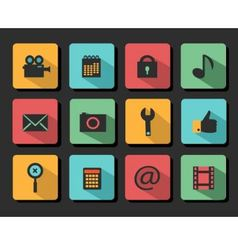 Set icons flat design vector image vector image