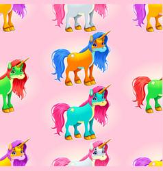 Set of cute unicorns vector