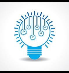 Small light-bulbs in a big bulb vector