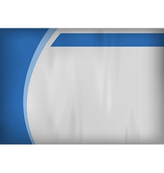 template blue curve side vector image