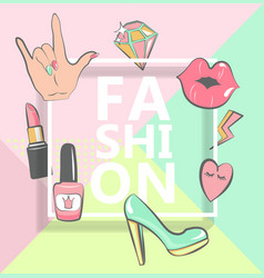 Template for fashion vector