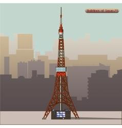 Tokyo tower in japan vector