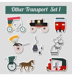 Traims trolleybuses set 1 vector