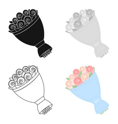 wedding bouquet icon of for vector image vector image
