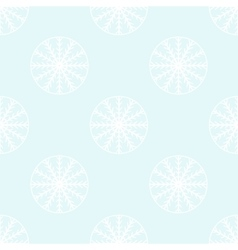 White snowflakes seamless pattern vector