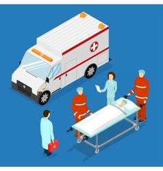 Ambulance service concept vector