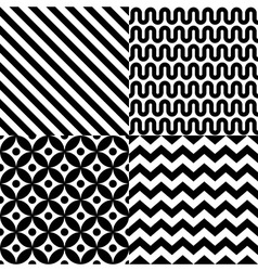 Seamless abstract pattern set vector