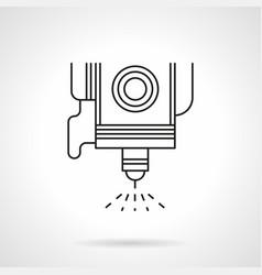 Spot welding flat line icon vector