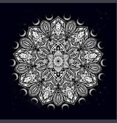 Flower mandala vintage decorative element vector