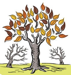 Hand drawn tree 01 vector