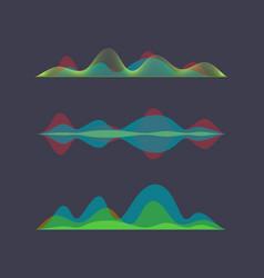 Colored sound wave digital equalizer vector