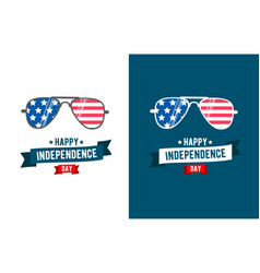 Sunglasses patriot independence day 4th of july vector
