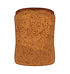 Closeup of slice of whole wheat bread isolated vector