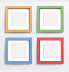 Color frame set on gray wall vector