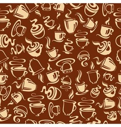 Seamless pattern with coffee cups vector