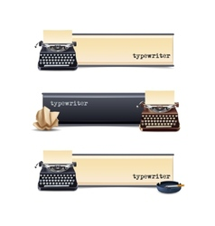 Typewriter banners set vector
